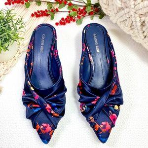 GIANNI BINI Navy & Floral Heels